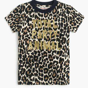 J Crew Girls Size 3 Total Party Animal Tee Shirt